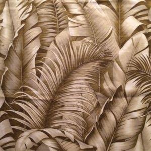 Vintage Kravet Tropical Linen Weave Fabric Wheat
